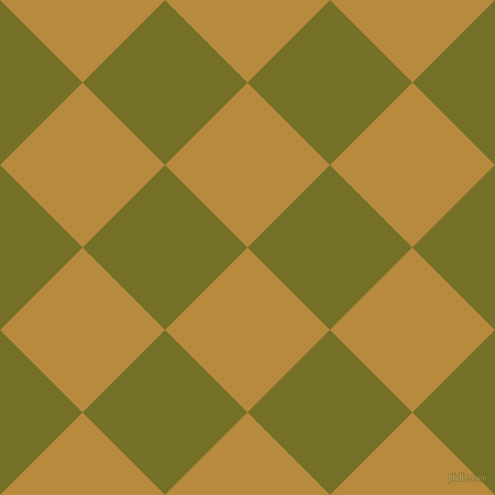 45/135 degree angle diagonal checkered chequered squares checker pattern checkers background, 106 pixel squares size, , Marigold and Olivetone checkers chequered checkered squares seamless tileable