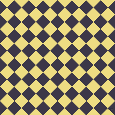 45/135 degree angle diagonal checkered chequered squares checker pattern checkers background, 42 pixel squares size, Martinique and Light Goldenrod checkers chequered checkered squares seamless tileable