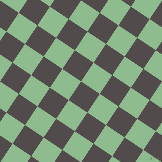 56/146 degree angle diagonal checkered chequered squares checker pattern checkers background, 76 pixel square size, , Matterhorn and Dark Sea Green checkers chequered checkered squares seamless tileable