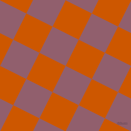 63/153 degree angle diagonal checkered chequered squares checker pattern checkers background, 100 pixel squares size, , Mauve Taupe and Tenne Tawny checkers chequered checkered squares seamless tileable