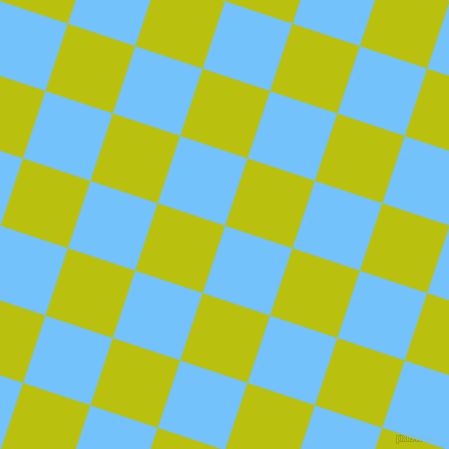 72/162 degree angle diagonal checkered chequered squares checker pattern checkers background, 71 pixel square size, , Maya Blue and La Rioja checkers chequered checkered squares seamless tileable