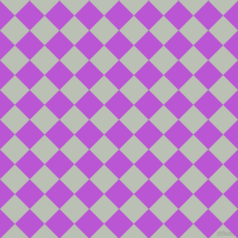45/135 degree angle diagonal checkered chequered squares checker pattern checkers background, 42 pixel squares size, , Medium Orchid and Pumice checkers chequered checkered squares seamless tileable