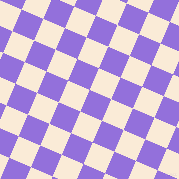 67/157 degree angle diagonal checkered chequered squares checker pattern checkers background, 77 pixel square size, , Medium Purple and Antique White checkers chequered checkered squares seamless tileable