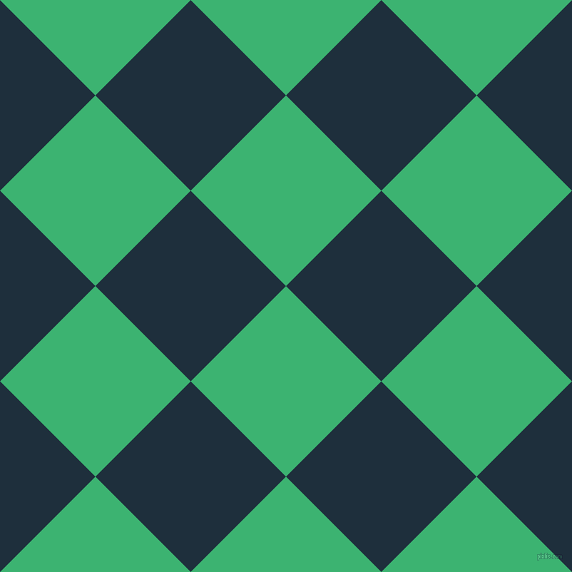45/135 degree angle diagonal checkered chequered squares checker pattern checkers background, 189 pixel square size, , Medium Sea Green and Tangaroa checkers chequered checkered squares seamless tileable