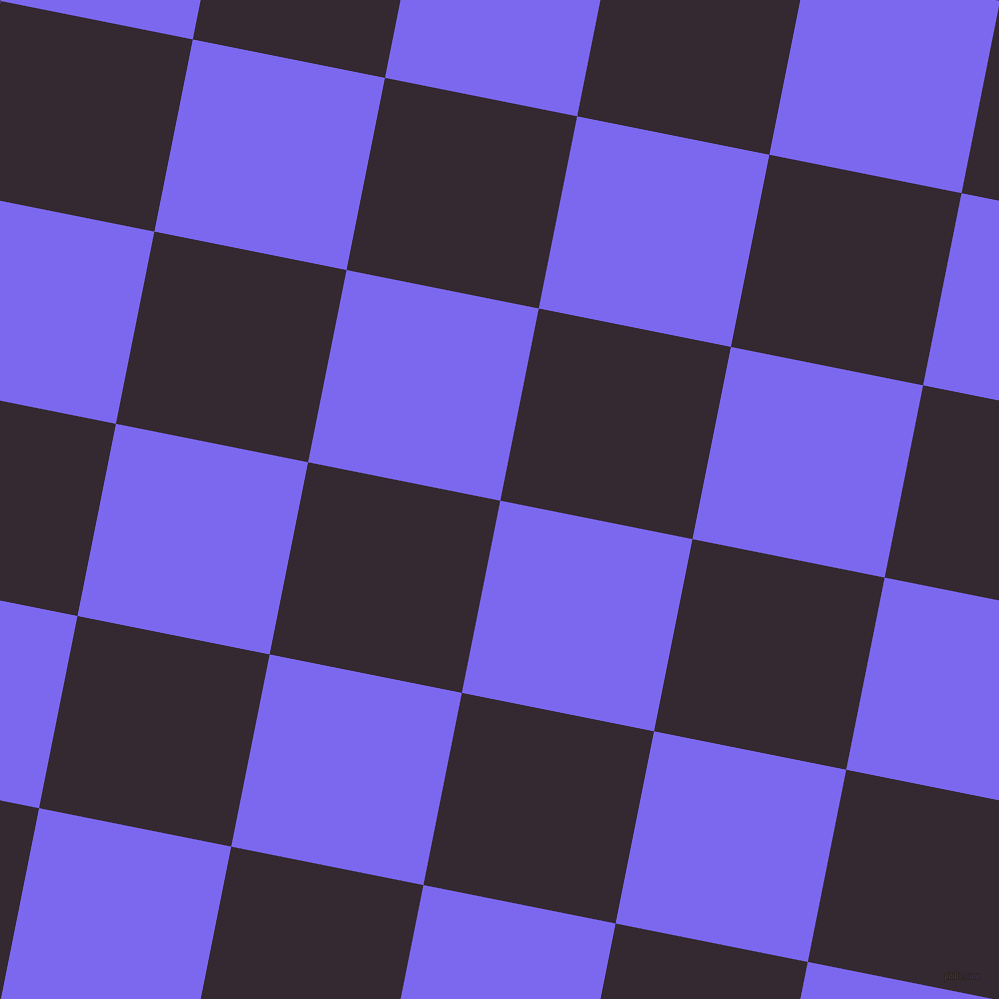 79/169 degree angle diagonal checkered chequered squares checker pattern checkers background, 196 pixel squares size, , Medium Slate Blue and Melanzane checkers chequered checkered squares seamless tileable