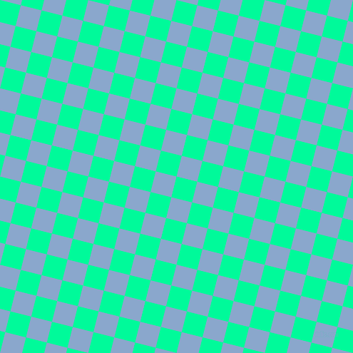 76/166 degree angle diagonal checkered chequered squares checker pattern checkers background, 30 pixel square size, , Medium Spring Green and Polo Blue checkers chequered checkered squares seamless tileable