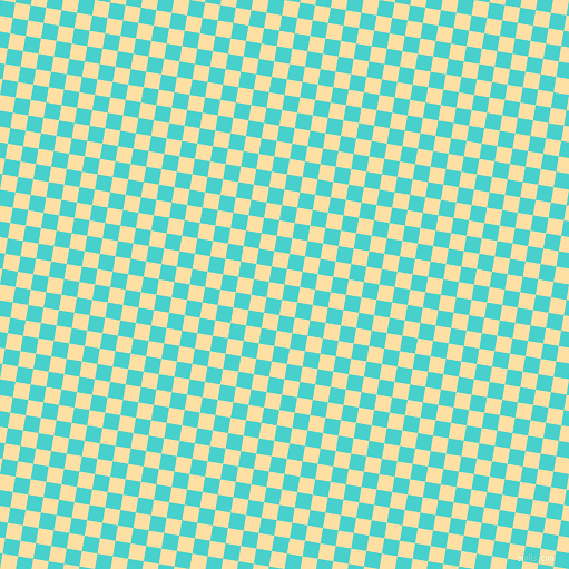 81/171 degree angle diagonal checkered chequered squares checker pattern checkers background, 14 pixel squares size, , Medium Turquoise and Cape Honey checkers chequered checkered squares seamless tileable