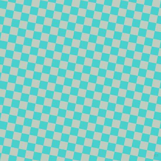 79/169 degree angle diagonal checkered chequered squares checker pattern checkers background, 27 pixel squares size, , Medium Turquoise and Paris White checkers chequered checkered squares seamless tileable