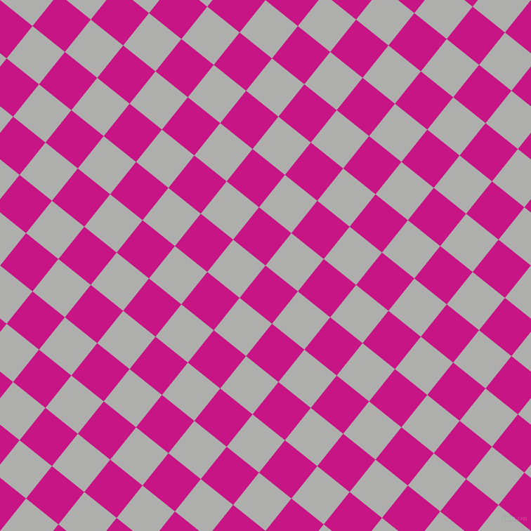 51/141 degree angle diagonal checkered chequered squares checker pattern checkers background, 59 pixel square size, , Medium Violet Red and Bombay checkers chequered checkered squares seamless tileable