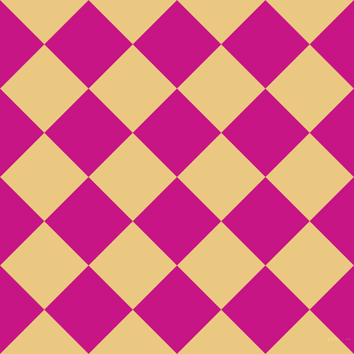 45/135 degree angle diagonal checkered chequered squares checker pattern checkers background, 91 pixel square size, , Medium Violet Red and Marzipan checkers chequered checkered squares seamless tileable
