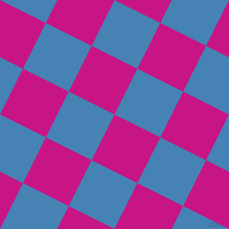 63/153 degree angle diagonal checkered chequered squares checker pattern checkers background, 105 pixel squares size, , Medium Violet Red and Steel Blue checkers chequered checkered squares seamless tileable
