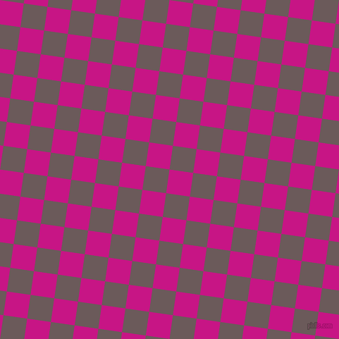82/172 degree angle diagonal checkered chequered squares checker pattern checkers background, 34 pixel square size, , Medium Violet Red and Zambezi checkers chequered checkered squares seamless tileable