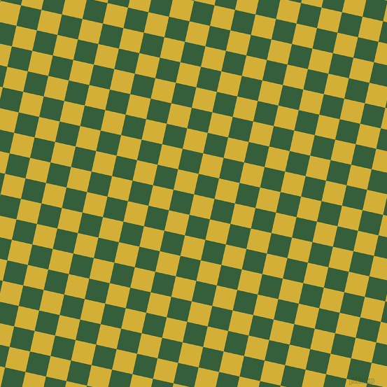 77/167 degree angle diagonal checkered chequered squares checker pattern checkers background, 30 pixel squares size, , Metallic Gold and Hunter Green checkers chequered checkered squares seamless tileable