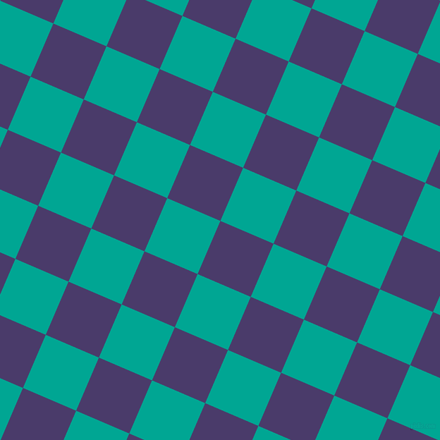 67/157 degree angle diagonal checkered chequered squares checker pattern checkers background, 82 pixel square size, , Meteorite and Persian Green checkers chequered checkered squares seamless tileable