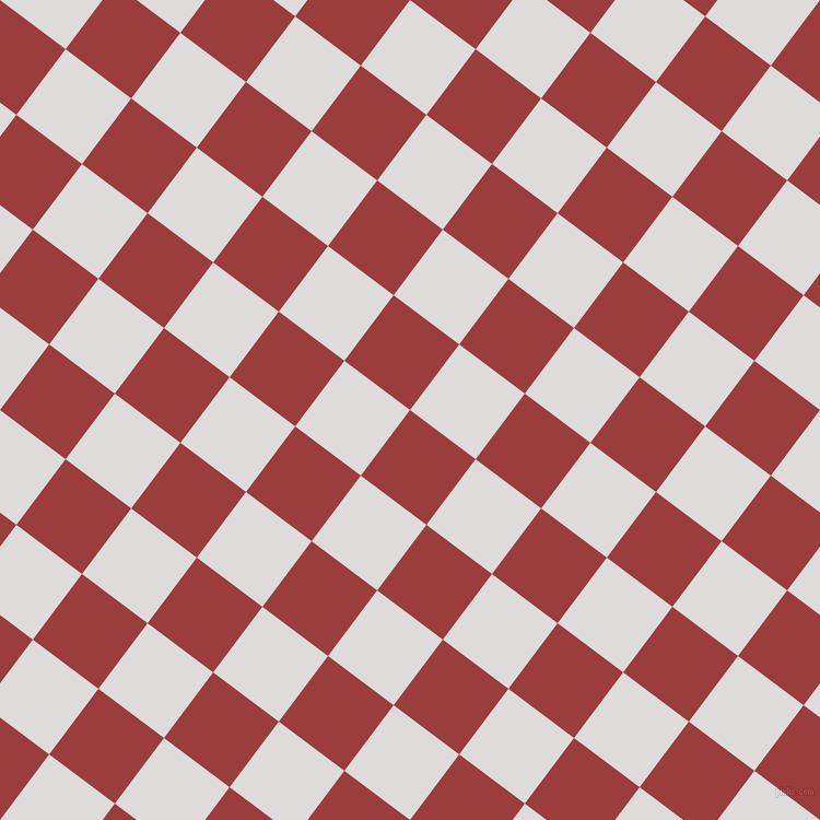 53/143 degree angle diagonal checkered chequered squares checker pattern checkers background, 75 pixel square size, , Mexican Red and Porcelain checkers chequered checkered squares seamless tileable