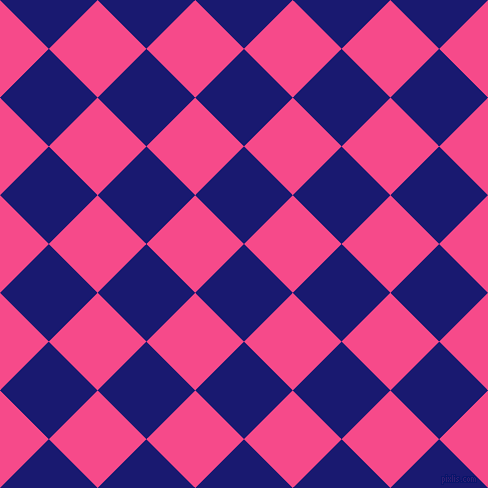 45/135 degree angle diagonal checkered chequered squares checker pattern checkers background, 69 pixel squares size, , Midnight Blue and French Rose checkers chequered checkered squares seamless tileable