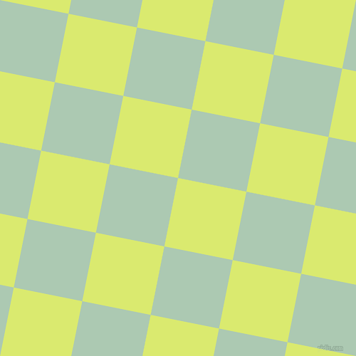 79/169 degree angle diagonal checkered chequered squares checker pattern checkers background, 98 pixel squares size, Mindaro and Gum Leaf checkers chequered checkered squares seamless tileable