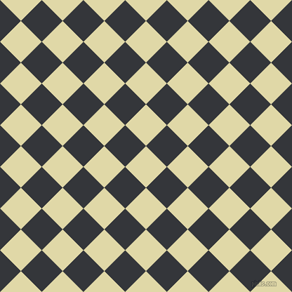 45/135 degree angle diagonal checkered chequered squares checker pattern checkers background, 42 pixel squares size, , Mint Julep and Shark checkers chequered checkered squares seamless tileable