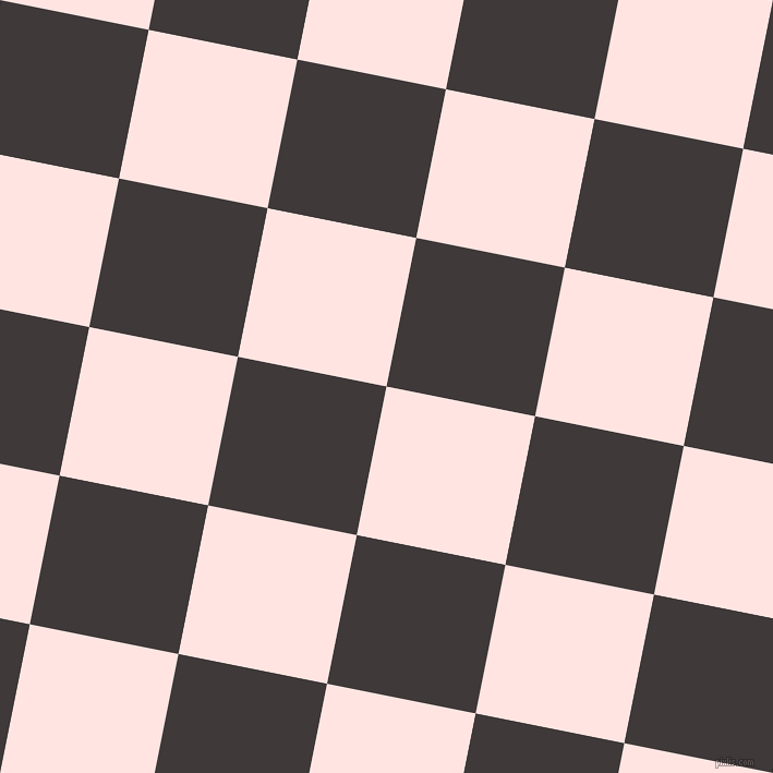 79/169 degree angle diagonal checkered chequered squares checker pattern checkers background, 139 pixel square size, Misty Rose and Eclipse checkers chequered checkered squares seamless tileable