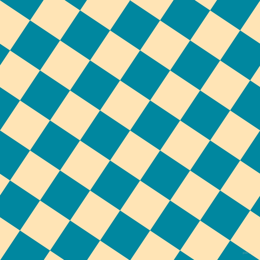 56/146 degree angle diagonal checkered chequered squares checker pattern checkers background, 116 pixel square size, , Moccasin and Eastern Blue checkers chequered checkered squares seamless tileable