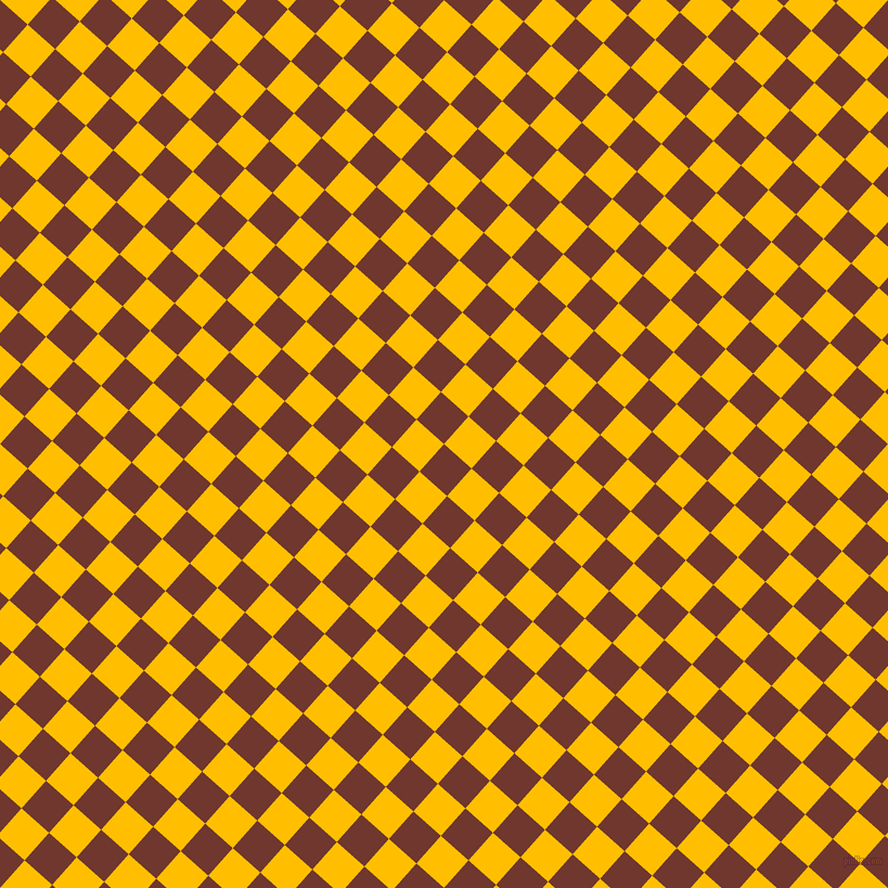 48/138 degree angle diagonal checkered chequered squares checker pattern checkers background, 34 pixel square size, , Mocha and Amber checkers chequered checkered squares seamless tileable