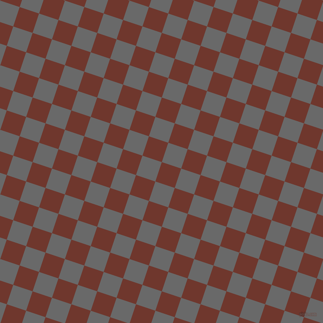72/162 degree angle diagonal checkered chequered squares checker pattern checkers background, 42 pixel squares size, , Mocha and Dim Gray checkers chequered checkered squares seamless tileable