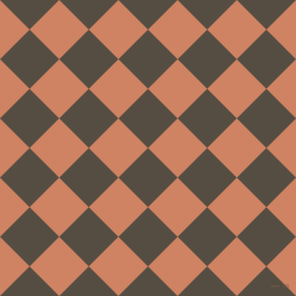 45/135 degree angle diagonal checkered chequered squares checker pattern checkers background, 84 pixel square size, , Mondo and Burning Sand checkers chequered checkered squares seamless tileable