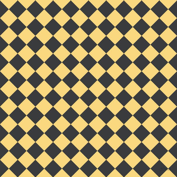 45/135 degree angle diagonal checkered chequered squares checker pattern checkers background, 43 pixel square size, , Montana and Golden Glow checkers chequered checkered squares seamless tileable
