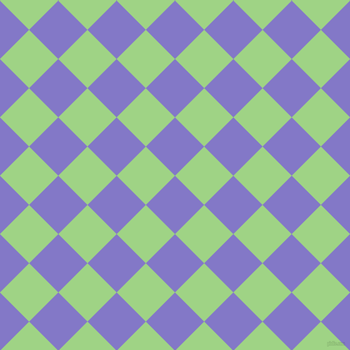 45/135 degree angle diagonal checkered chequered squares checker pattern checkers background, 83 pixel squares size, , Moody Blue and Gossip checkers chequered checkered squares seamless tileable