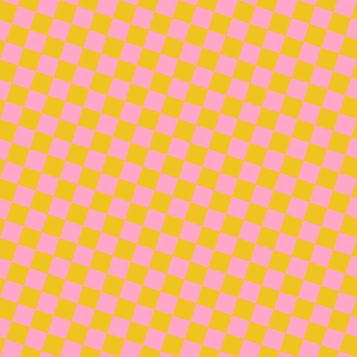 72/162 degree angle diagonal checkered chequered squares checker pattern checkers background, 38 pixel square size, , Moon Yellow and Carnation Pink checkers chequered checkered squares seamless tileable