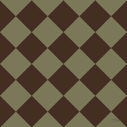 45/135 degree angle diagonal checkered chequered squares checker pattern checkers background, 72 pixel square size, , Morocco Brown and Kokoda checkers chequered checkered squares seamless tileable