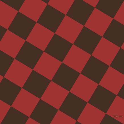 59/149 degree angle diagonal checkered chequered squares checker pattern checkers background, 75 pixel square size, , Morocco Brown and Milano Red checkers chequered checkered squares seamless tileable