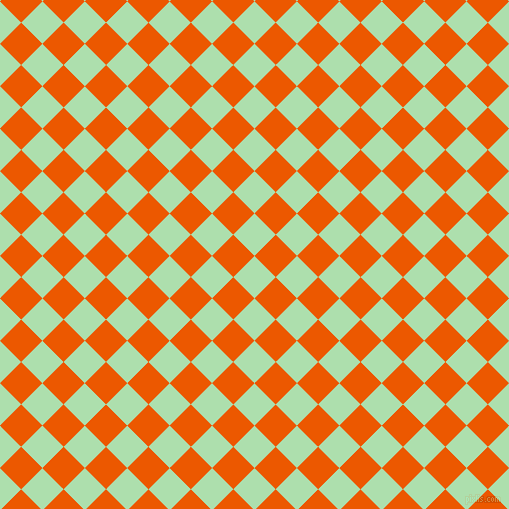 45/135 degree angle diagonal checkered chequered squares checker pattern checkers background, 30 pixel squares size, , Moss Green and Persimmon checkers chequered checkered squares seamless tileable