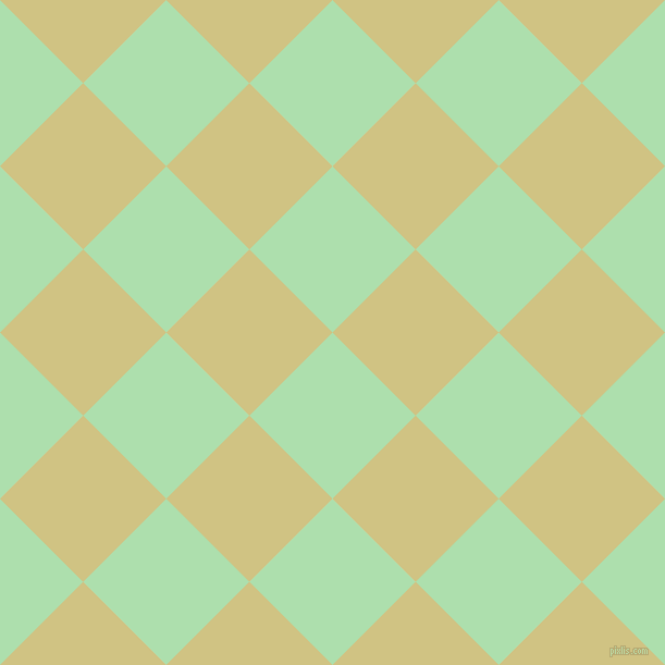 45/135 degree angle diagonal checkered chequered squares checker pattern checkers background, 108 pixel square size, , Moss Green and Winter Hazel checkers chequered checkered squares seamless tileable