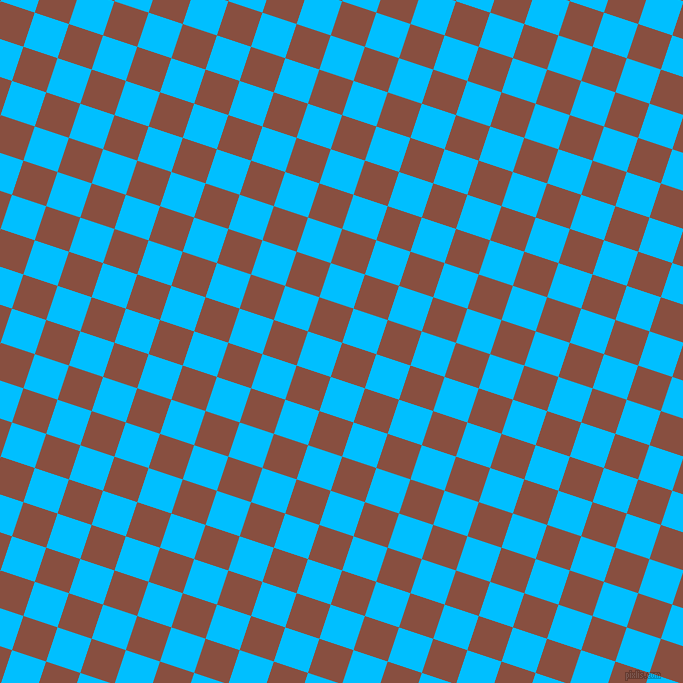 72/162 degree angle diagonal checkered chequered squares checker pattern checkers background, 36 pixel square size, , Mule Fawn and Deep Sky Blue checkers chequered checkered squares seamless tileable