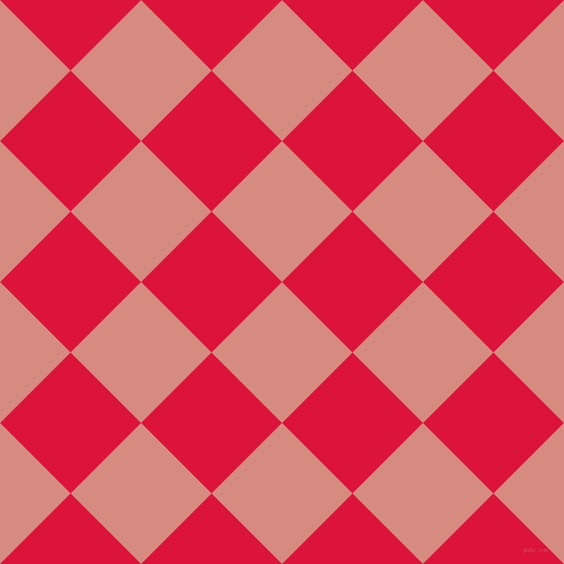 45/135 degree angle diagonal checkered chequered squares checker pattern checkers background, 141 pixel square size, , My Pink and Crimson checkers chequered checkered squares seamless tileable