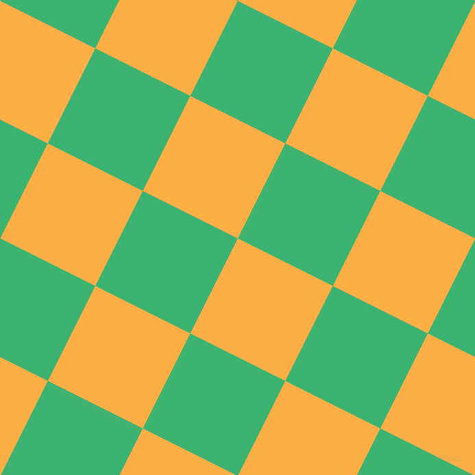 63/153 degree angle diagonal checkered chequered squares checker pattern checkers background, 155 pixel square size, My Sin and Medium Sea Green checkers chequered checkered squares seamless tileable