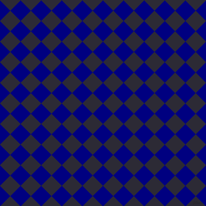 45/135 degree angle diagonal checkered chequered squares checker pattern checkers background, 50 pixel square size, Navy and Haiti checkers chequered checkered squares seamless tileable