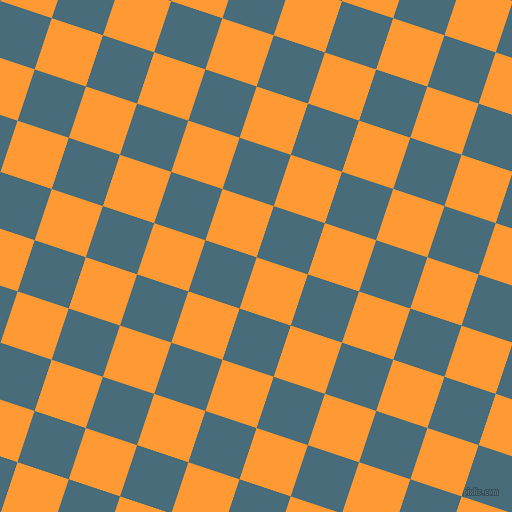 72/162 degree angle diagonal checkered chequered squares checker pattern checkers background, 54 pixel squares size, , Neon Carrot and Bismark checkers chequered checkered squares seamless tileable