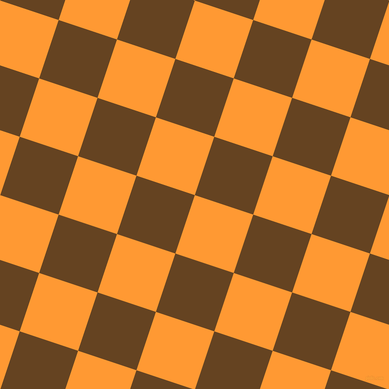 72/162 degree angle diagonal checkered chequered squares checker pattern checkers background, 124 pixel squares size, , Neon Carrot and Dark Brown checkers chequered checkered squares seamless tileable