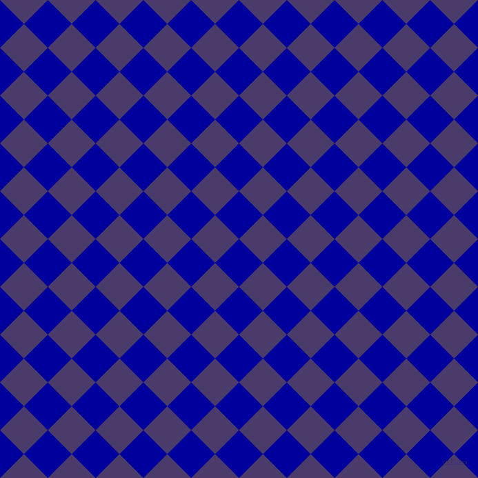 45/135 degree angle diagonal checkered chequered squares checker pattern checkers background, 49 pixel square size, , New Midnight Blue and Meteorite checkers chequered checkered squares seamless tileable