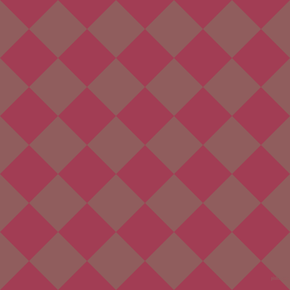45/135 degree angle diagonal checkered chequered squares checker pattern checkers background, 84 pixel square size, , Night Shadz and Rose Taupe checkers chequered checkered squares seamless tileable