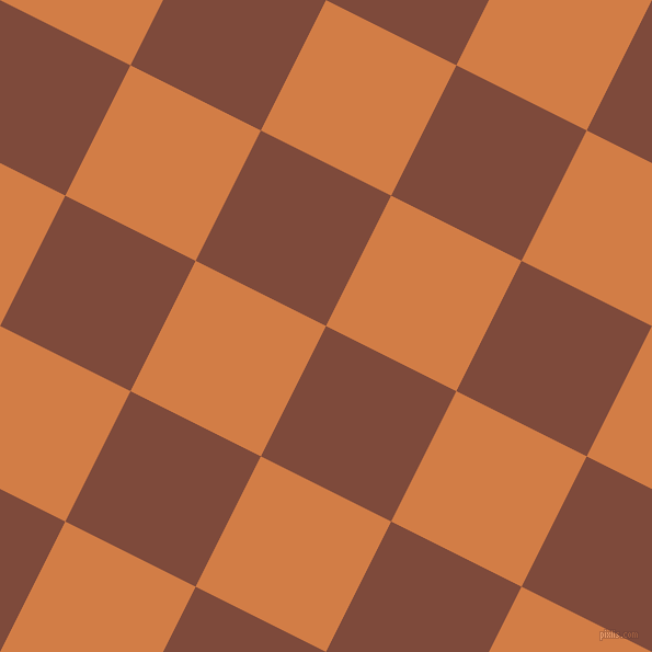 63/153 degree angle diagonal checkered chequered squares checker pattern checkers background, 133 pixel squares size, , Nutmeg and Raw Sienna checkers chequered checkered squares seamless tileable