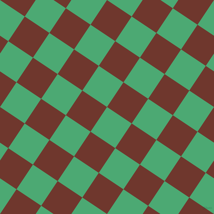56/146 degree angle diagonal checkered chequered squares checker pattern checkers background, 117 pixel squares size, , Ocean Green and Mocha checkers chequered checkered squares seamless tileable