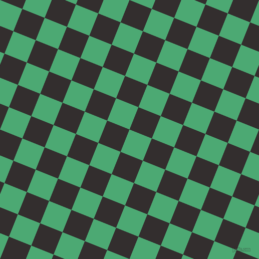 68/158 degree angle diagonal checkered chequered squares checker pattern checkers background, 48 pixel square size, , Ocean Green and Night Rider checkers chequered checkered squares seamless tileable