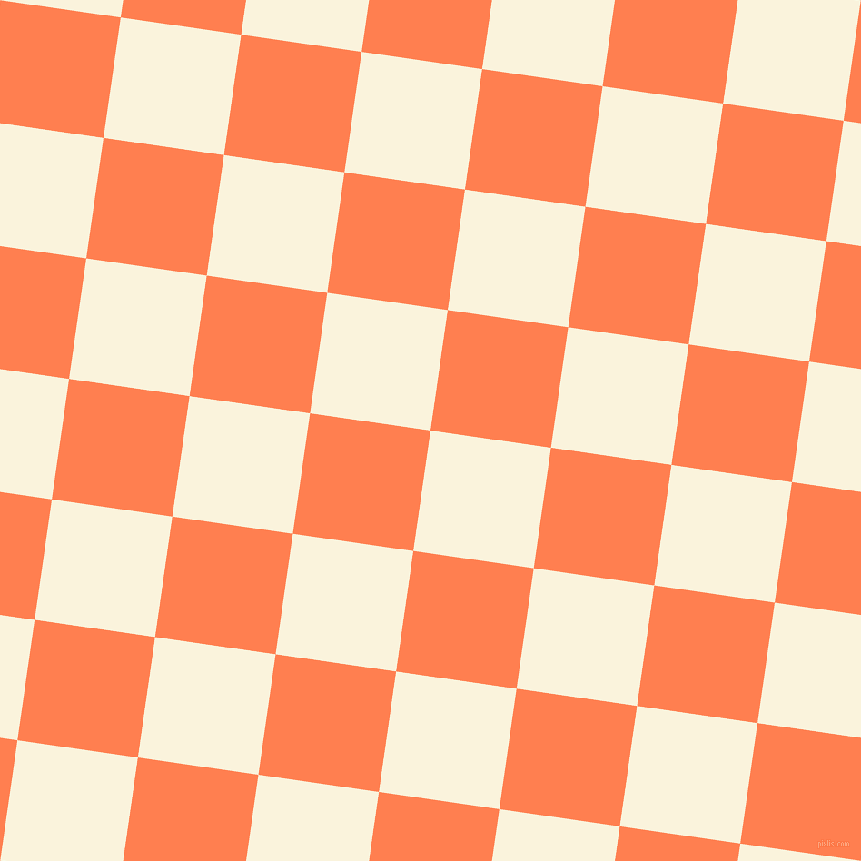 82/172 degree angle diagonal checkered chequered squares checker pattern checkers background, 134 pixel squares size, , Off Yellow and Coral checkers chequered checkered squares seamless tileable
