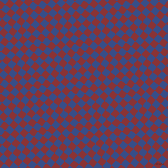 51/141 degree angle diagonal checkered chequered squares checker pattern checkers background, 23 pixel squares size, , Old Brick and Tory Blue checkers chequered checkered squares seamless tileable