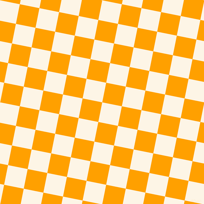79/169 degree angle diagonal checkered chequered squares checker pattern checkers background, 67 pixel square size, , Old Lace and Orange Peel checkers chequered checkered squares seamless tileable