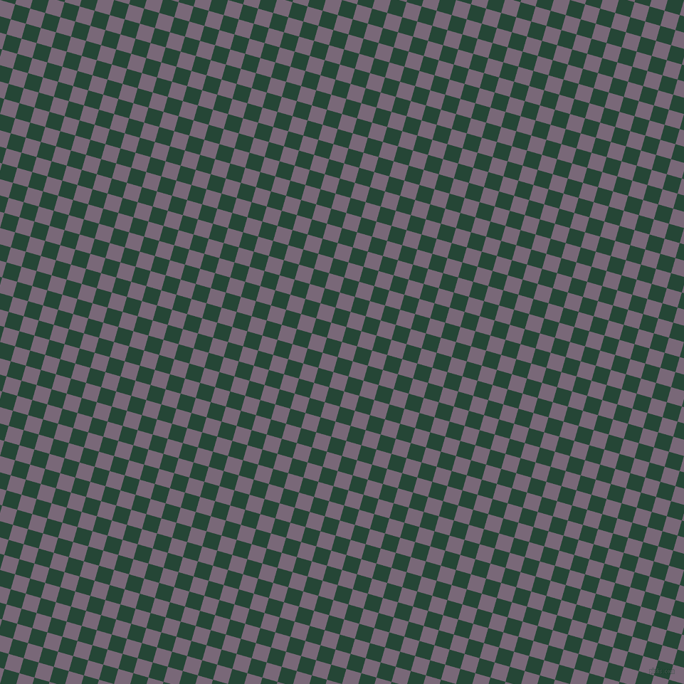 74/164 degree angle diagonal checkered chequered squares checker pattern checkers background, 22 pixel square size, Old Lavender and Bottle Green checkers chequered checkered squares seamless tileable