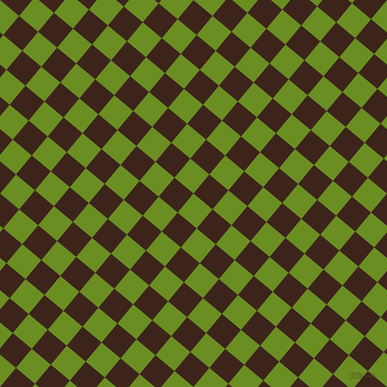 50/140 degree angle diagonal checkered chequered squares checker pattern checkers background, 35 pixel square size, , Olive Drab and Brown Pod checkers chequered checkered squares seamless tileable